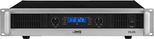 IMG STAGELINE STA-235 Stereo PA-Verstärker mit integriertem Limiter schwarz/silber -