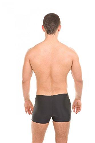 AQUA-SPEED® Herren Badehose   Schwimmhose   S-XXXL   Modern   Perfect Fit   UV-Schutz   Chlor resistent   Kordelzug 05. / 13 / black gray light gray
