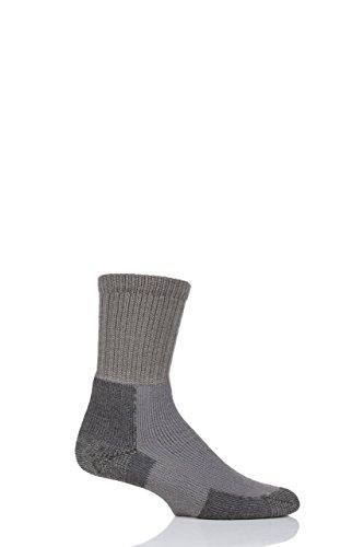 (Herren 1 Paar Thorlos Wandern Dickes Kissen Socken mit Thorlon In 3 Farben - 5-8 Mens - Zinn)