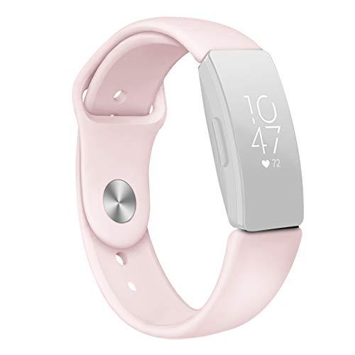 SYY Sport silikon Armband, Wasserdicht IP67 Fitness Tracker Smartwatch Aktivitätstracker Pulsuhr Schrittzähler Uhr Sportuhr für Fitbit Inspire/Inspire hr (Rosa)