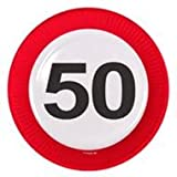 Folat Creative Verkehrsschild 50. Party Teller 23cm