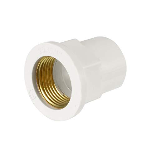 Sourcing Map 25 mm Slip x 3/4 PT weiblich Messing Gewinde PVC Rohrverschraubung Adapter -