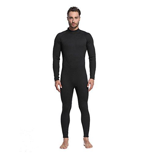 VENIMASEE Neopren Männer lange Wetsuit 2mm Schnorcheln Surfen Tauchen Haut Zip Kompletter Anzug (Haut Tauchen Anzug)