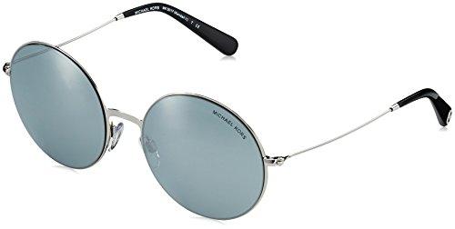 Michael kors mk5017, occhiali da sole unisex-adulto, argento (silber/blau), 5