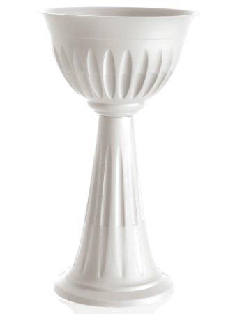 Vaso Colonna interno esterno giardino fioriera plastica ANTRACITE vasi Bama 100%MADE IN ITALY