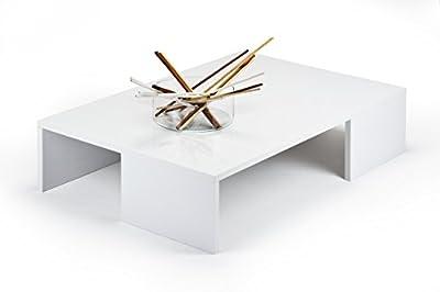 Coffee Table Living Room Furniture Hi-gloss White Rachele