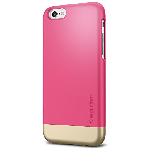 spigen-style-armor-trendy-hard-cover-case-with-metallic-finished-base-for-iphone-6-azalea-pink