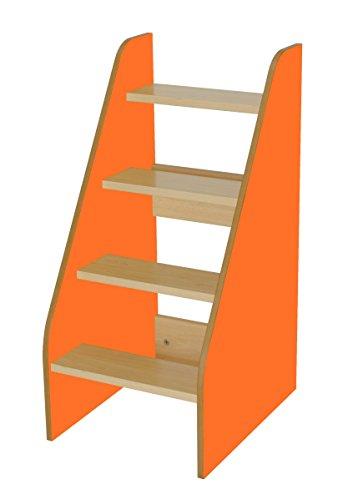 Mobeduc 600710hp19–Leiter für Wickeltisch, Holz, Buche und Orange, 40x 50x 86cm