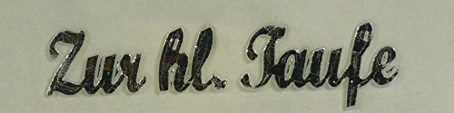 "Wachs-Schriftzug Silber "" Zur hl. Taufe "" 9684"