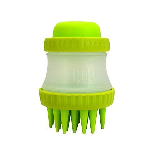 joizo Pet Scrubber weiche Gummibadebürste für Haustiere Massage Comb Baden-Werkzeug Schnellwäsche-Werkzeug für Hunde Katzen und mehr mit Langen und kurzen Pelz 1pc Grün -