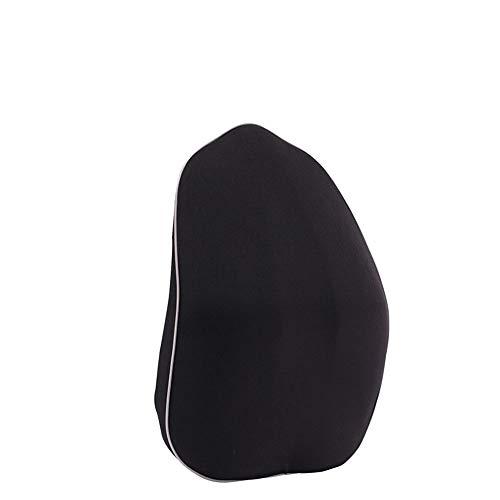 MMXD Taillenstützkissen, Auto-Rücken- / Wirbelsäulenentlastungsschmerz, Gedächtnisbaumwolllendenstützkissen - Autositz, Bürostuhl, Reisehauskomfort-Rückenpolster,Black--Whiteside -