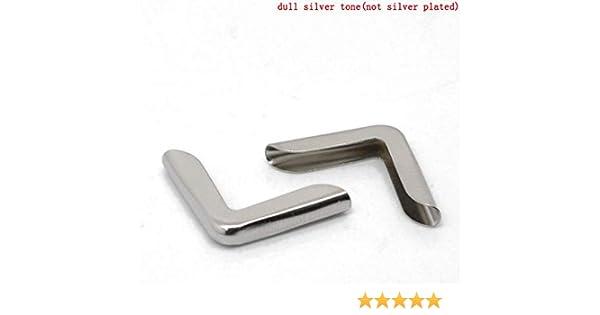 Stammbuchecken 4 Stück silber Buchecken Metallecke Schutzecke Schmuckecken