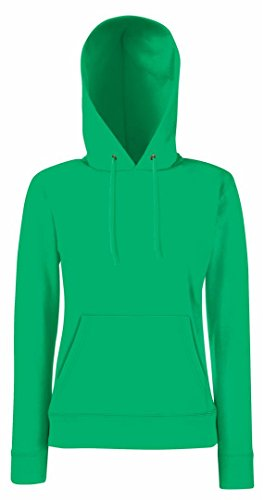 Fruit Of The Loom - Sweatshirt à capuche - Femme vert kelly