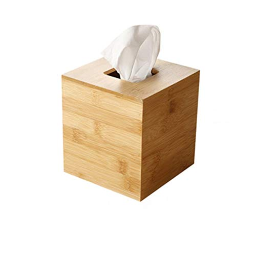 Tissue Box Cover Bambus Holz Tissue Box Cover Papier Handtuch Box Schlafzimmer, Schminktisch, Nachttisch, Schreibtisch Tissue Box Taschentuchhalter (Size : 13cm×13cm×14cm) -