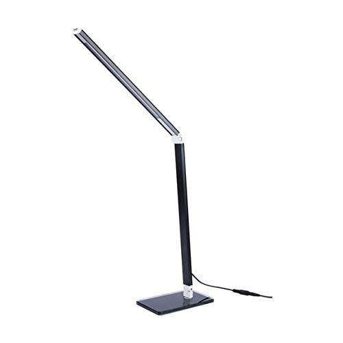HRO Tischlampe Led Eye Care Schreibtisch Lampe Desktop Leselicht Dimmbare Einstellbare Flexible Beleuchtung Led Nachtlicht EU-Stecker schwarz - Schwarz Poliert-schreibtisch-lampe