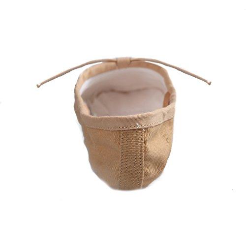 Jinfengkai Ballettschuhe / Ballett schläppchen aus Leinen Beige