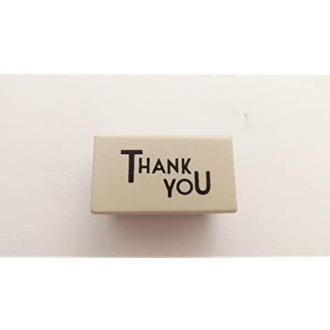 East of India Wooden Rubber Stamp - Thank You