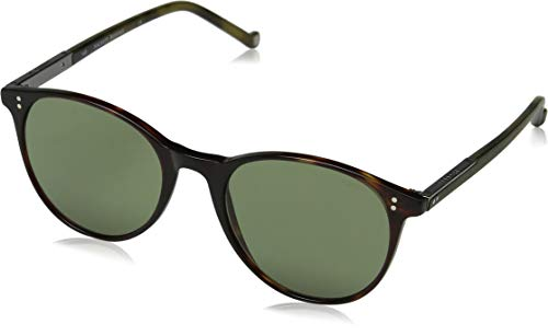 Hackett London Herren Bespoke Sonnenbrille, Braun (Torf/Green), 52.0
