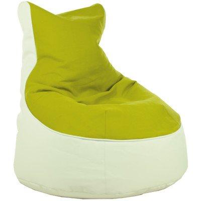 Sitzsack Lotos-Genua Farbe (Genua): Limette, Farbe (Lotos): Weiß