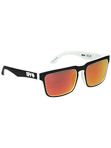 Spy Herren Sunglasses Helm Sonnenbrille, Whitewall - Happy Gray Green W/Red Spectra, 57