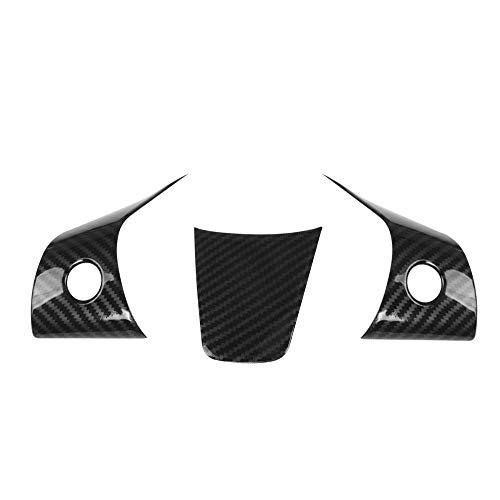 Carrfan für Tesla Model 3 Auto innen zubehör lenkrad Taste Abdeckung Trim 3 stücke abs kohlefaser Stil 3 Teile/Satz