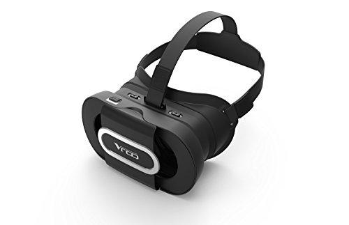 VR-PRIMUS GO - Gafas de realidad virtual - Para smartphones Android e iOS como iPhone, Samsung Galaxy, HTC, Sony, LG, Huawei, Motorola, ZTE, Pixel y más - Compatible con Google Cardboard Apps - 3D Auriculares de realidad virtual para móviles - Gafas VR / RV para smartphone - (negro)