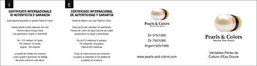 Pearls & Colors–Halskette mit Anhänger–Weißgold 9kt–Süßwasserperle–42cm–am-9cc 1073r9b-pk - 3