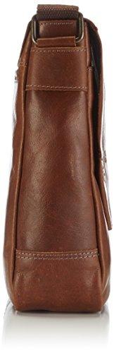 Bruno Banani Force_2_3 BL320_2008_Unisex-Erwachsene Schultertaschen 26x27x8 cm (B x H x T) Beige (Cognac)