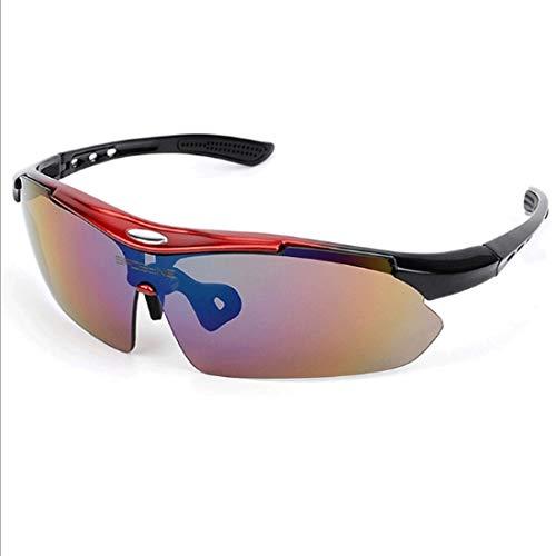 ZALIANG Radfahren Brille Bergsteigen Brille Männer und Frauen Mode Brille Wind und Sand (Color : A6)