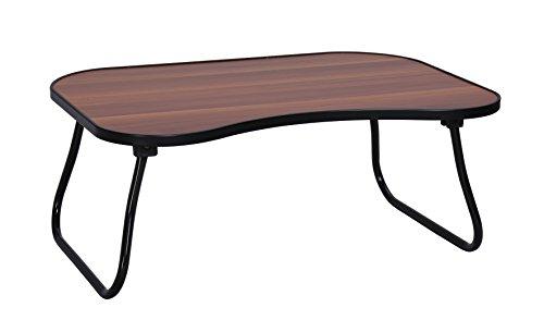 MULSH portátil tabla del escritorio del ordenador portátil soporte plegable desayuno Bandeja para servir para el sofá cama con las piernas del metal y tablero superior MDF (nuez), 60x40x24.5cm (An)