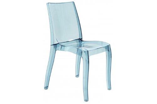 Grandsoleil Upon Cristal Transparent Chaise empilable, en Polycarbonate, Gris, Fumé Clair 54 x 50 x 84 cm
