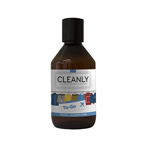 Waschmittel & Geruchsneutralisierer To-Go von CLEANLY | Seife, Geruchsneutralisierer & Desinfektionsmittel ideal für die Kosmetiktasche auf Reisen | 100ml | 100% Bio & Vegan