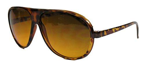 lle Flat Top Pilotenbrille Retro Style Blueblocker Linsen (Demi Tortoise) (80er Jahre Mens Style)