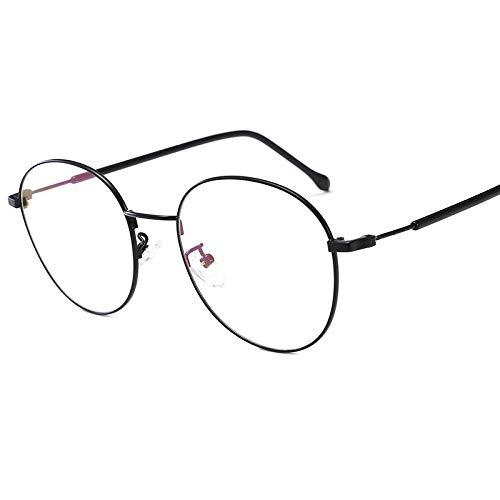 Yangjing-hl Kleines rotes Buch Brillengestell runder Rahmen Retro Anti-Ultraleicht Myopie Brillengestell schwarzer Rahmen