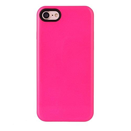 2 in 1 Solid Color PU + TPU Kombination zurück Fall Deckung für iPhone 7 BY EKINHUI ( Color : Pink ) Magenta