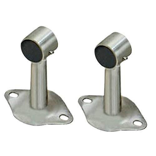 F Fityle 2pcs Deckenhalterung Deckenhalter Schrankrohr Halterung Halter für Vorhangstange Schrankstange - 100 mm