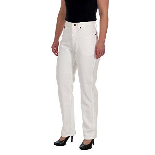 Wrangler Damenjeans / Frauen Jeans Paula ICE Straight leg, Highwaist White, Größe:W34/L30