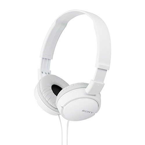 Sony MDR-ZX110 On-Ear Stereo Headphones (White)