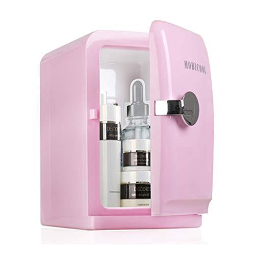 15L Mini Auto Kühlschrank, kleinen Schlafsaal Warm und kalt Dual-Use-Brustmilch Kosmetik gekühlt (Farbe : Pink) ()