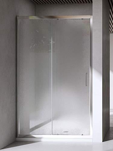 Yellowshop Box Doccia Porta Nicchia Bagno Cm 100 110 120 130 Con Anta Scorrevole Struttura In Alluminio Anodizzato Cristallo Trasparente E Opaco 6