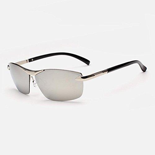 WYYY Sonnenbrillen Schutzbrillen Fahrbrille Männer Quadratische Gläser Keine Grenze Im Freien Klassisch Polarisiertes Licht Sonnenschutz Anti-UVA UV-Schutz 100% (Farbe : Grau)