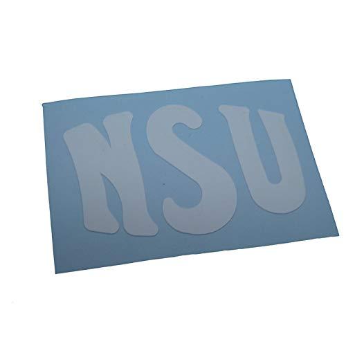 NSU Schriftzug, Ersatzteil Sticker oder als Tank Schriftzug Dekor. Zum Oldtimer Restaurieren von Lack und Verkleidung. Alternativ zum Motorrad Emblem -