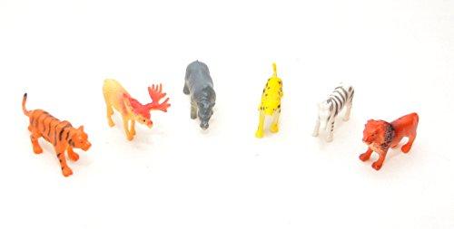 6er Set Zootiere ca. 5-7 cm, Löwe, Nashorn, Nilpferd, Kamel, Gepard,Känguru, Elefant , Elch, Tiger, Giraffe,Zebra by schenkfix