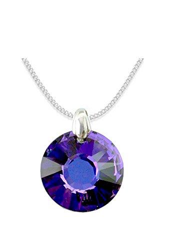 Crystals & Stones *SUN* *SONNE* Swarovski Elements - Farbe *Heliotrope* Schön Damen Halskette - Anhänger Halskette Schmuck Mutter Geschenk mit Kristallen von Swarovski