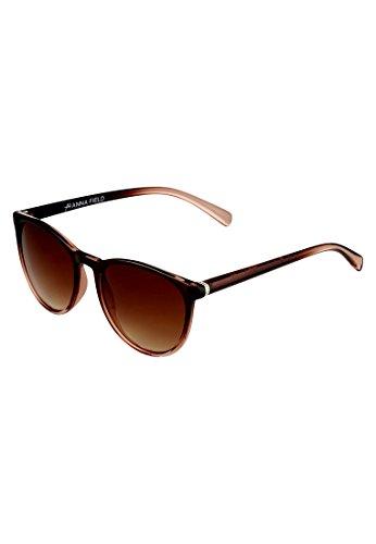 Anna field occhiali da sole da donna in look vintage, marrone chiaro