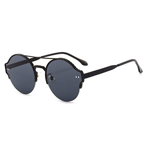 Yiph-Sunglass Sonnenbrillen Mode Metallrahmen Anti-ultraviolette Sport-Sonnenbrillen können für das Fahren von Baseball Radfahren Golf Retro Sonnenbrille verwendet Werden (Farbe : Schwarz)