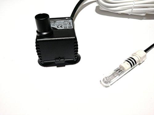 serpumpe (5W + 10W Licht, 240 l/h, 0,45 m Förderhöhe), hochwertige Qualitätspumpe mit Licht, kleine Pumpe mit Licht (mit 12V-Trafo) (Kleines Aquarium Mit Licht)