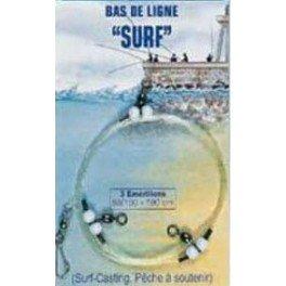 MONTAGE BAS DE LIGNE SURF 50-100 3 EMERILLONS -...