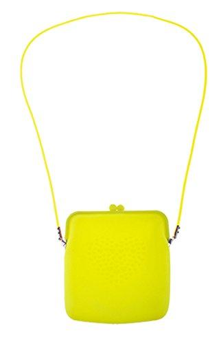 Kostüm Accessoires Handtasche - Karnevalsbud - Kostüm Accessoire- Neon- Handtasche- Umhängetasche, 18cm, Neongelb