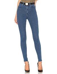 bd5b2e6cac3ade H HIAMIGOS Jeans Donna Skinny a Vita Alta Pantaloni Elasticizzati in Denim  Elastico